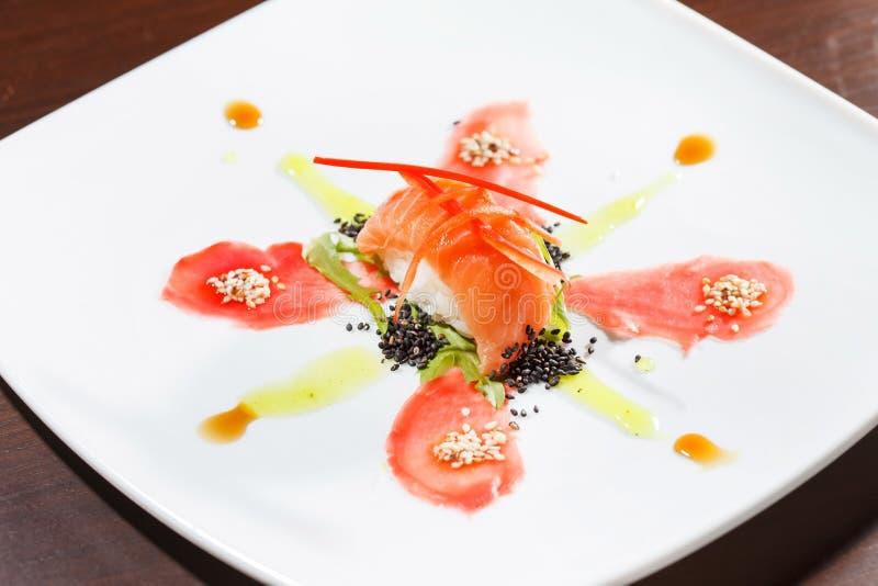 Geschmackvolle Sushi stockfoto