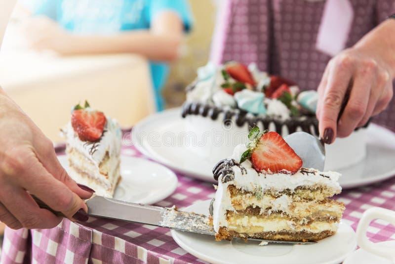 Download Geschmackvoller Erdbeercremekuchen Stockbild - Bild von selbstgemacht, vereisung: 90233185