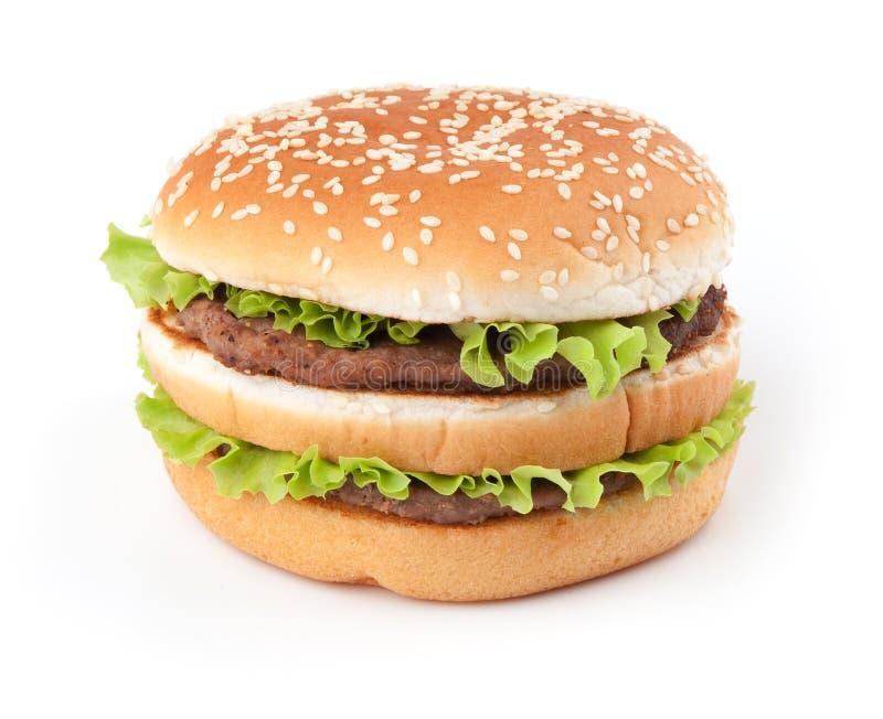Geschmackvoller großer Hamburger lizenzfreie stockfotos