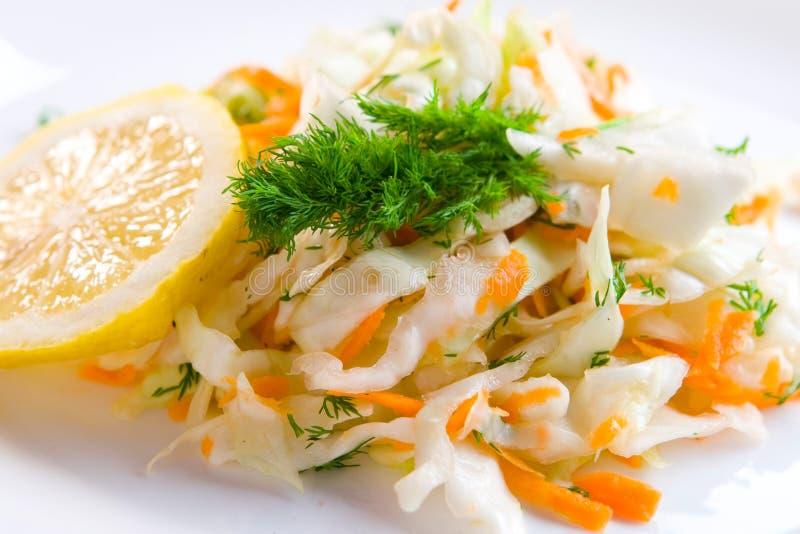 Geschmackvoller Kohlsalat stockfotos