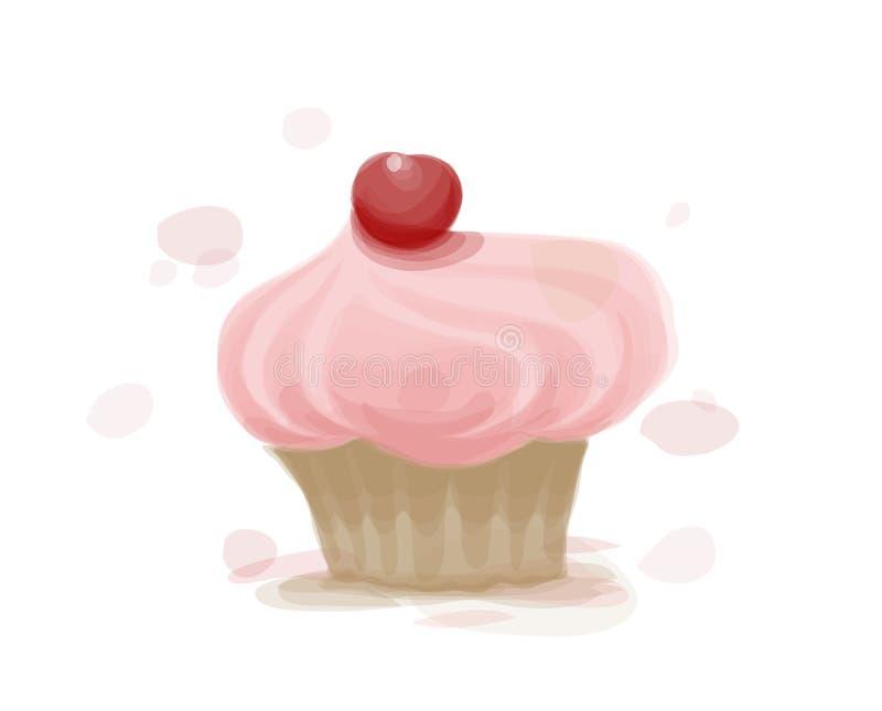 Geschmackvoller Kuchen lizenzfreie abbildung