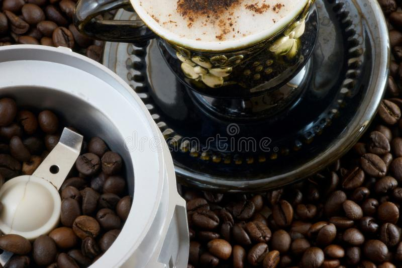 Geschmackvolles gutes Auffrischungsgetränk des organischen Kaffees stockfotos