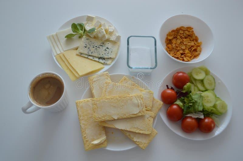 Geschmackvolles Sitzfrühstück lizenzfreie stockfotografie