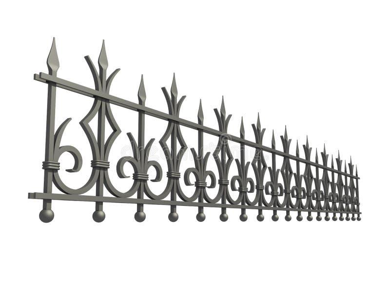 Geschmiedeter Zaun vektor abbildung