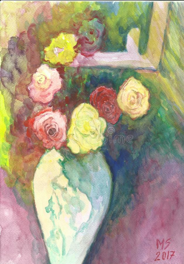 Geschmolzene Rosen stockfotografie