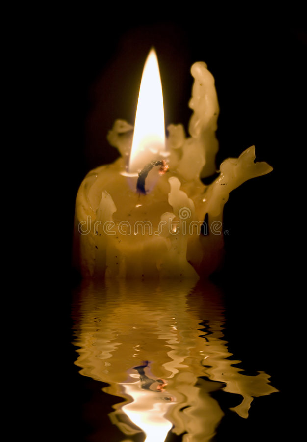 Geschmolzener Kerze-Steuerknüppel stockfotografie
