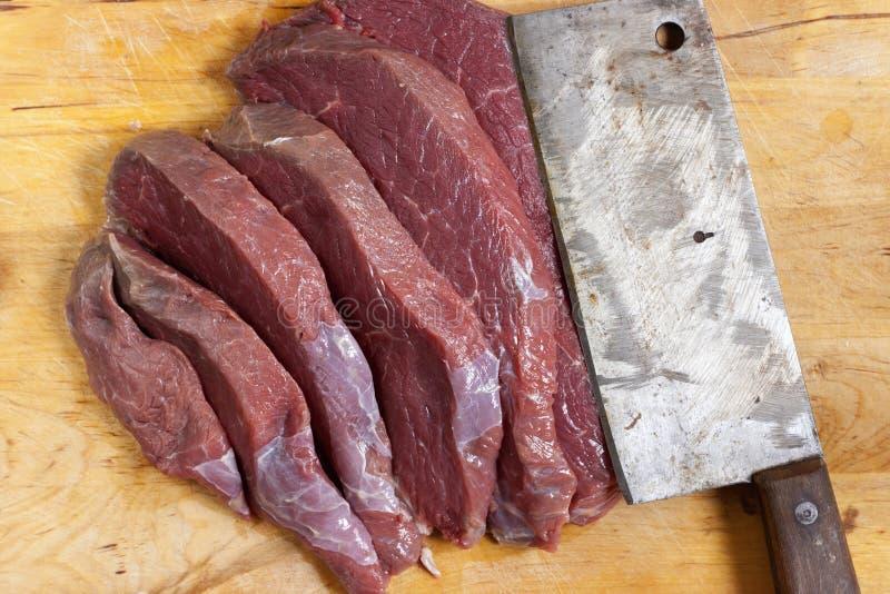 Geschnitten vom Rindfleisch lizenzfreies stockfoto