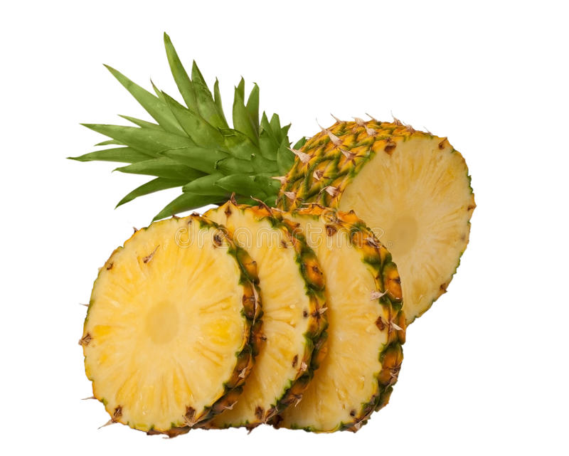 Geschnittene Ananas stockfotografie