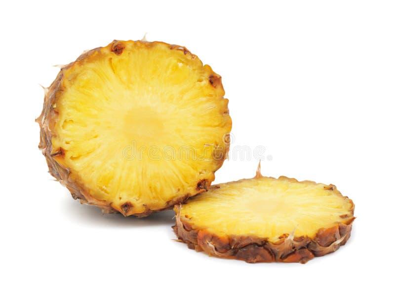Geschnittene Ananas, getrennt lizenzfreie stockfotos