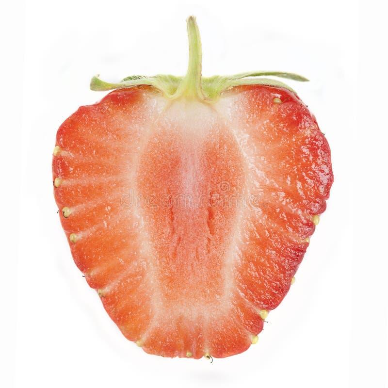 Geschnittene Erdbeere stockbild