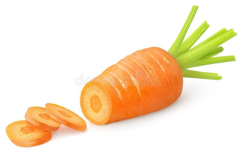 Geschnittene Karotte stockbild