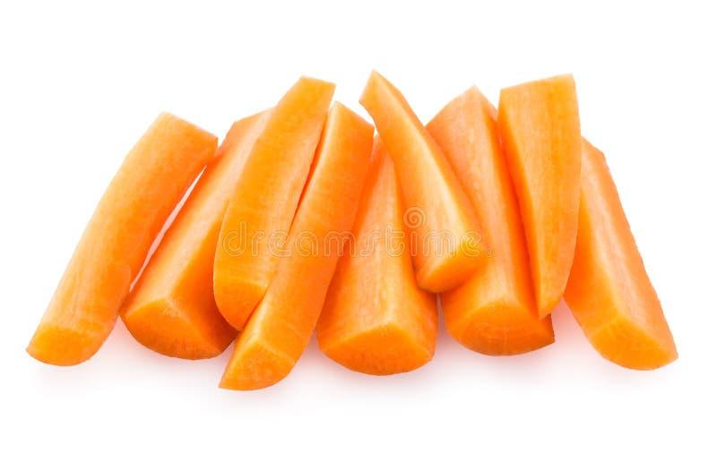 Geschnittene Karotte stockfoto