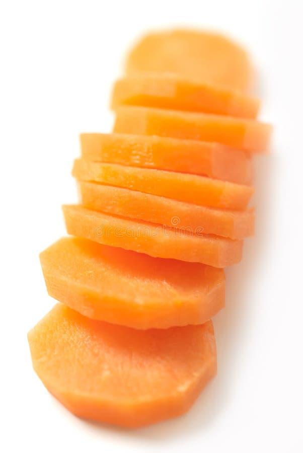 Geschnittene Karotte stockbilder