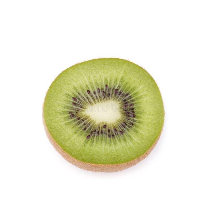 Geschnittene Kiwifrucht auf weißem Hintergrund stockbilder