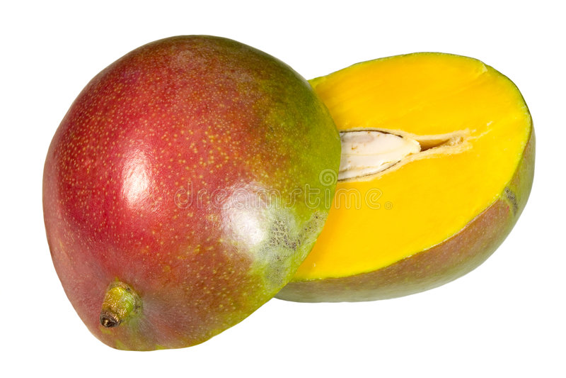Geschnittene Mangofrucht lizenzfreie stockfotografie