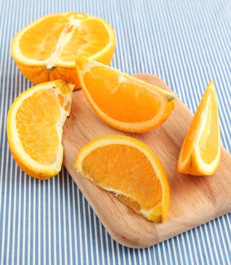 Geschnittene orange Frucht stockfoto