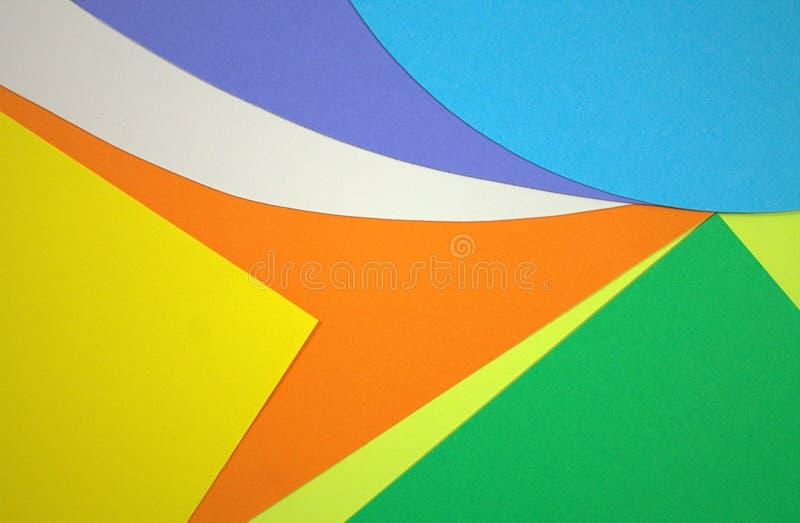 Geschnittene Papierfarbe Symphonie- und Farbspiel Die Magie von Farben lizenzfreies stockfoto
