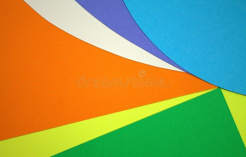 Geschnittene Papierfarbe Symphonie- und Farbspiel Die Magie von Farben lizenzfreies stockbild