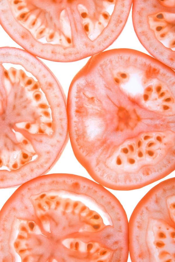 Geschnittene Tomate stockfotos
