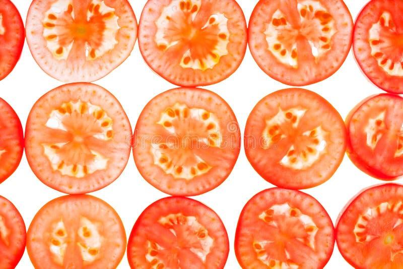 Download Geschnittene Tomate Des Hintergrundes Dünn Stockfoto - Bild von scheiben, beleuchtete: 26364020
