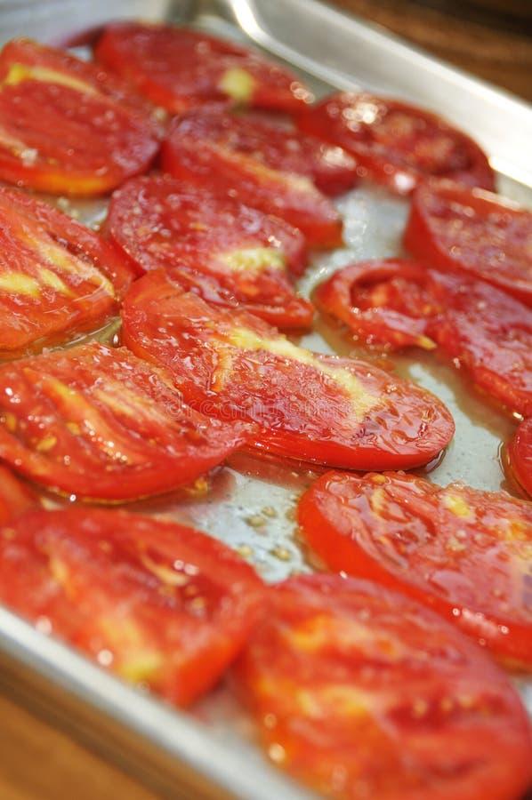 Geschnittene Tomaten stockfoto