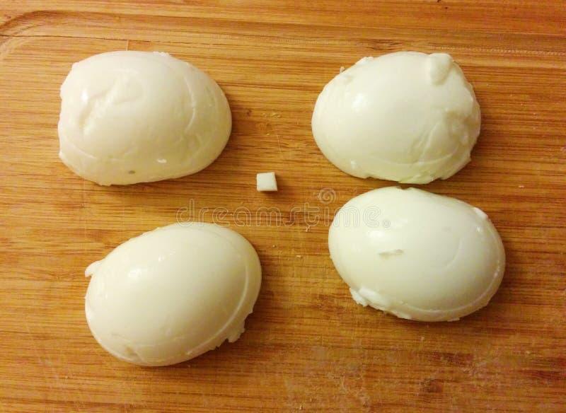 Geschnittene und gehackte Eier lizenzfreies stockbild