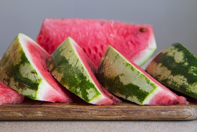 Geschnittene Wassermelone III stockbilder