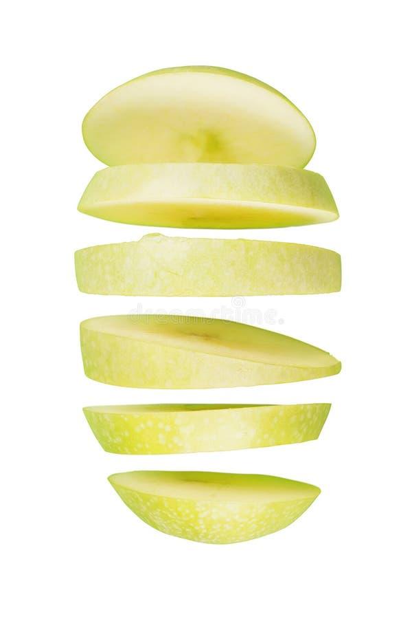 Geschnittener grüner Apfel getrennt lizenzfreie stockfotografie