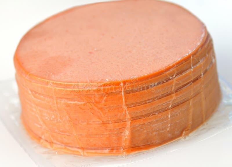Geschnittenes Bologna lizenzfreies stockbild