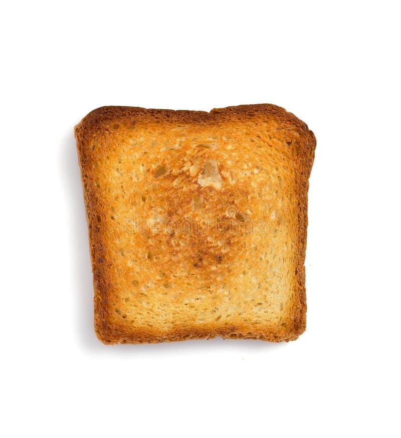 Geschnittenes Brot getrennt auf Weiß stockfotos