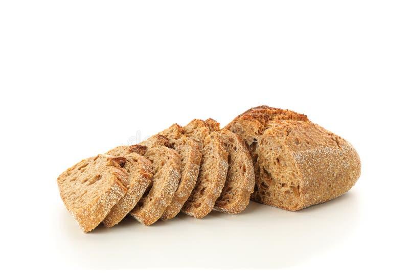 Geschnittenes Brot getrennt auf wei?em Hintergrund lizenzfreie stockfotos