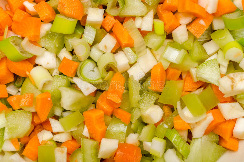 Geschnittenes Gemüse lizenzfreie stockbilder