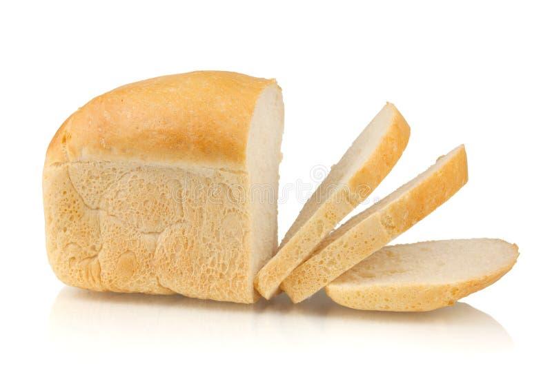 Geschnittenes weißes Brot stockbild
