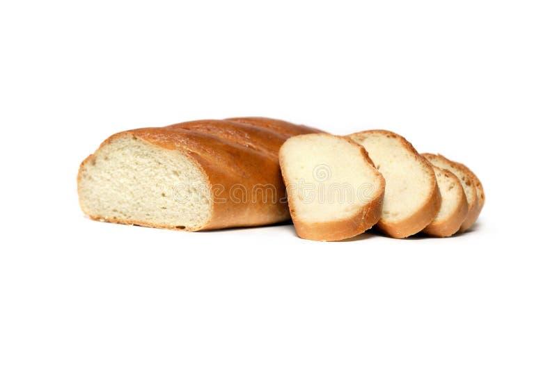 Geschnittenes weißes Brot stockfoto
