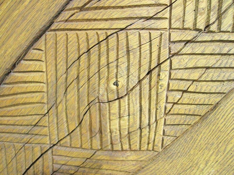 Geschnitzte Holzoberfläche stockfoto