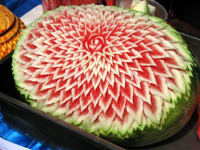 Geschnitzte Wassermelone Stockfotos Bild 2980373