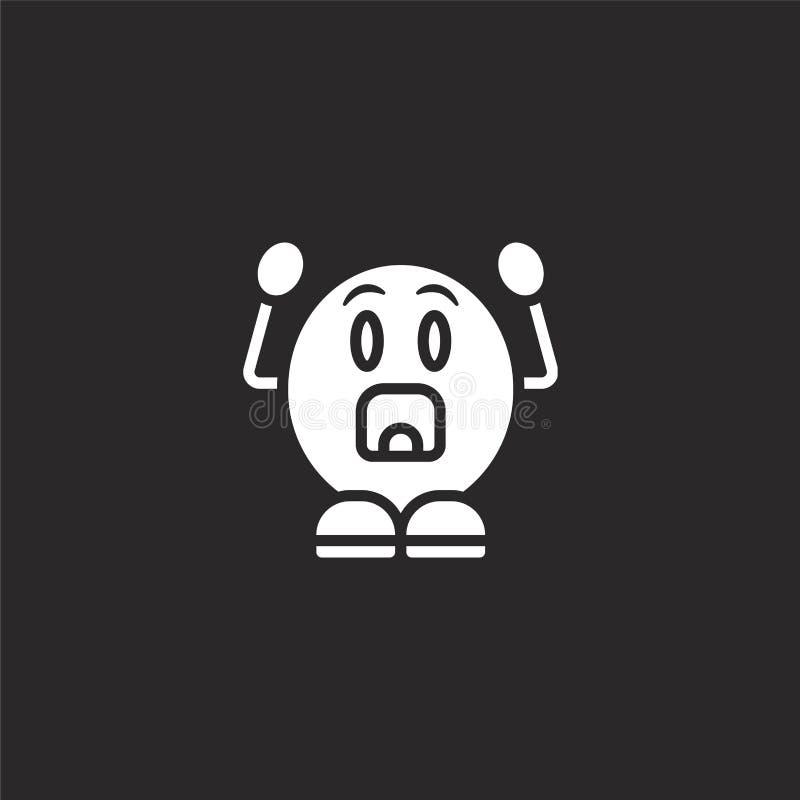 Geschokt pictogram Gevuld geschokt pictogram voor websiteontwerp en mobiel, app ontwikkeling geschokt pictogram van de gevulde in royalty-vrije illustratie