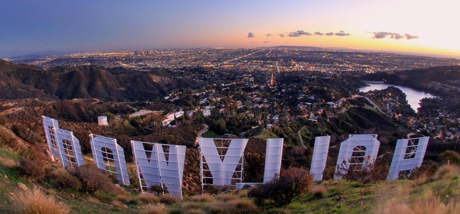 Hollywood Hills lizenzfreie stockbilder