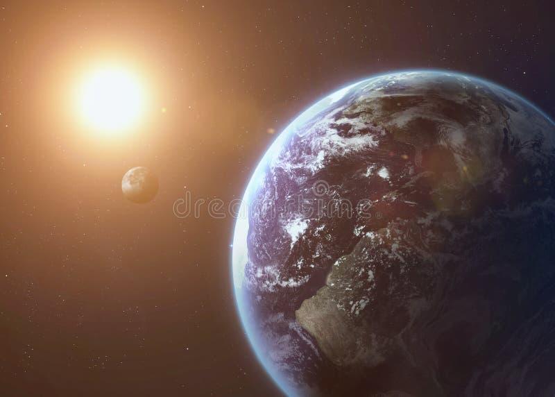 Geschoten die van Aarde uit open plek wordt genomen collage stock fotografie