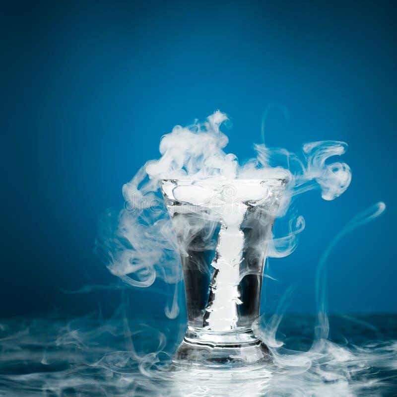 Geschoten glas wodka stock afbeelding