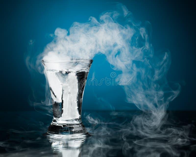Geschoten glas wodka royalty-vrije stock foto
