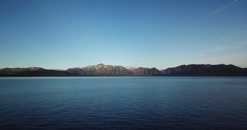 Geschoten van van de bergen en het Meer Tahoe De V.S. Nevada stock afbeelding