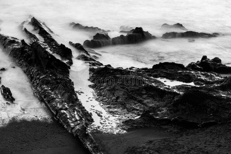 Geschoten van kust in Lanzarote, Gr Golfo, Spanje royalty-vrije stock foto