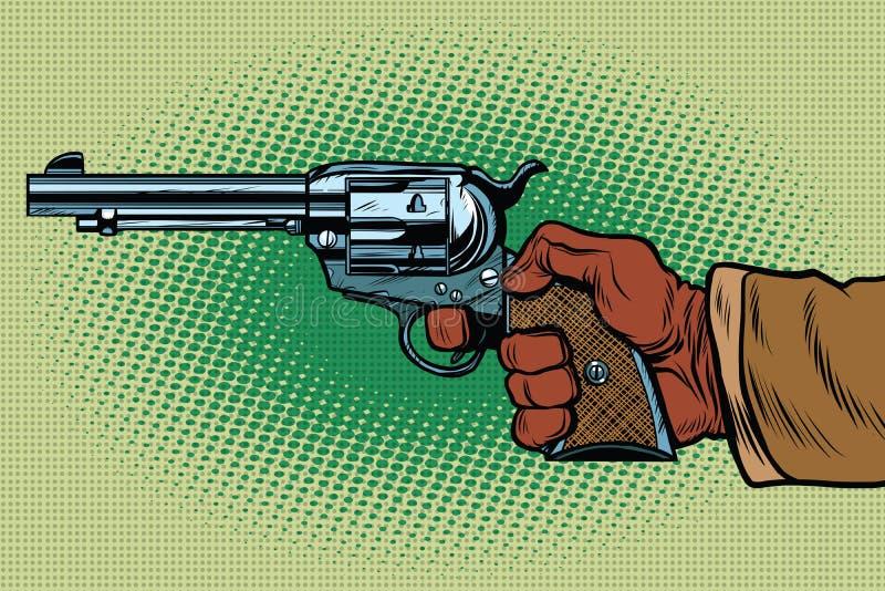 Geschotene Westelijke Wilde Westennen vector illustratie