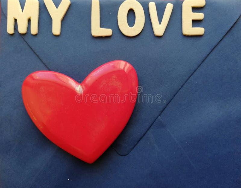 Geschreven: mijn liefde royalty-vrije stock afbeelding