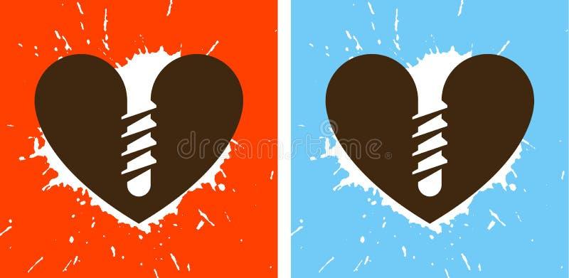 Geschroeft hart stock illustratie