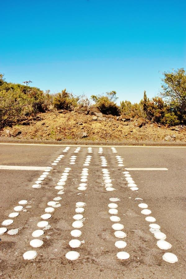 Geschwindigkeit verringern konvexe Oberfläche der Zone in Maui lizenzfreie stockfotografie
