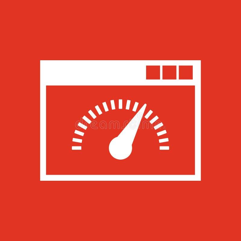 Geschwindigkeitsinternet-Testikone ENV 10 Geschwindigkeitstestsymbol web graphik jpg ai app zeichen nachricht flach bild zeichen stock abbildung