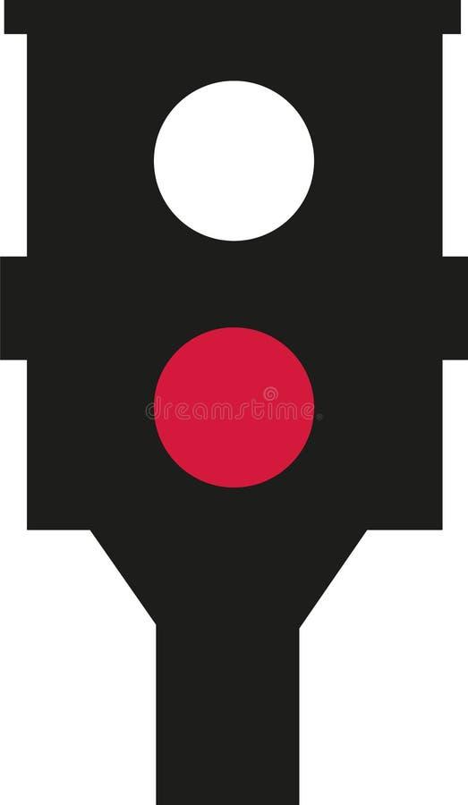 Geschwindigkeitskamerarot vektor abbildung