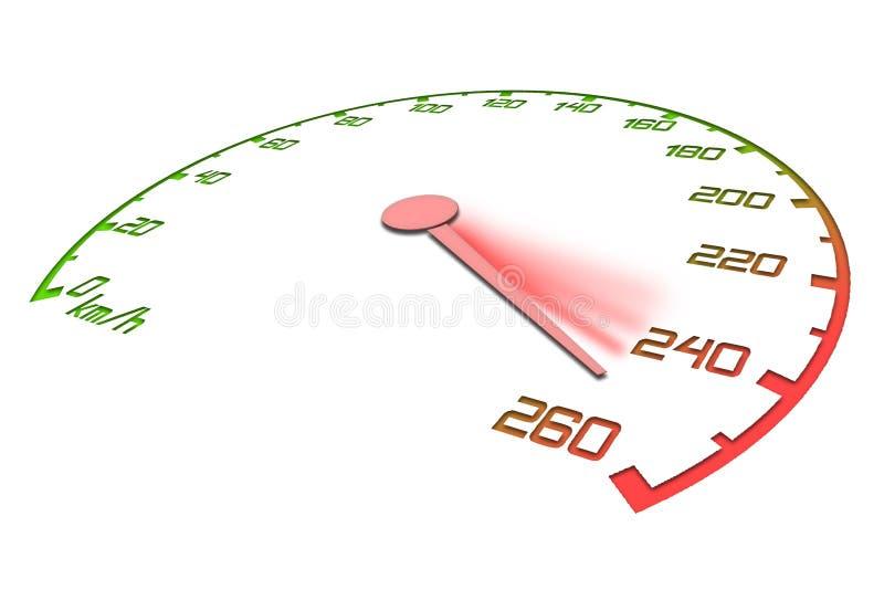 Geschwindigkeitsmesser lizenzfreie abbildung